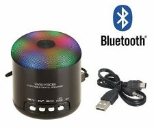 SPEAKER BLUETOOTH MINI CASSA AMPLIFICATA RADIO FM LETTORE MP3 VIVAVOCE CON LED