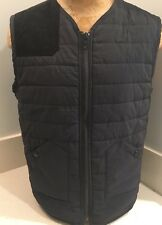 Marc Ecko Cut & Sew Men's Black Zipper Front Vest Jacket Size Small