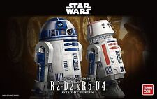 New Bandai Star Wars 1/12 Scale R2-D2 & R5-D4 Plastic Model Kit Free Postage F/S