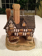 "VTG 1986 DAVID WINTER Master Collection ""FALSTAFF MANOR"" Lg Tudor Home Sculpture"