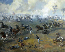 US Civil War Painting First Battle Of Bull Run 8x10 Real Canvas Art Print New