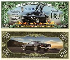 1969 Mustang Boss 429 - Classic Car Series Million Dollar Novelty Money