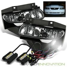 *6000K White HID Kit* For 99-04 Ford Mustang Clear Lens Fog Lights Driving Lamps