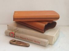 Vintage Leather Triple Cigar Holder With Cutter *cigar NOT included