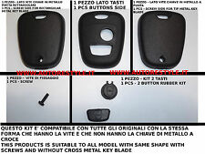 COVER CASE SHELL BLACK FOR KEY REMOTE CONTROL 2 BUTTONS PEUGEOT 206 107 207 307