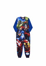 NEW Marvel Avengers Boys Blue Fleece Onesie, Sleepsuit, Pyjamas - Age  5-6