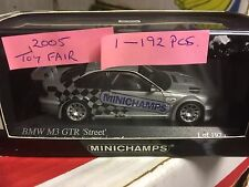 RARE  Minichamps 1/43 Scale  BMW M3 GTR E46 Excel London Toy Fair 2005 192 pcs