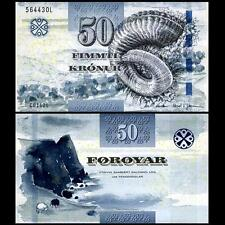 Faeroe Faroe Islands 50 Kronur, 2011(2012), P-29, UNC New Signature And Security