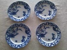 lot of four petrus regout maastricht nankin blue delft