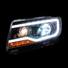 For Jeep Compass 2007-2015 LED Strip Front Lamps Bi Xenon Projector Lens