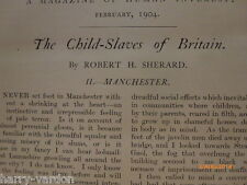 Child Slavery Torture Manchester Old Edwardian Illustrated NSPCC  Article 1904