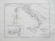 Mappa dell' Italia meridionale, per illustrare la invasione di Napoli nel 1806 Johnston 1866