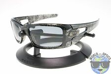 Oakley Crankcase Sunglasses OO9165-06 Grey Smoke History Text w/ Grey Polarized