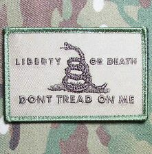 LIBERTY OR DEATH DONT TREAD ON ME USA ARMY TACTICAL MULTICAM VELCRO MORALE PATCH