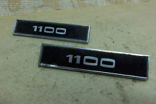 2 NOS GENUINE FORD ESCORT Mk1 Saloon Estate 1100 BADGE EMBLEM CHROME