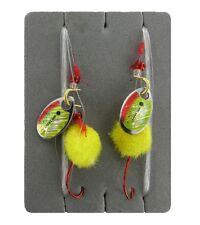 JENZI Forellenvorfach,2 Stück, Farbe Gelb, Länge 2,00 m, Hakengr. 6,Trout Rig
