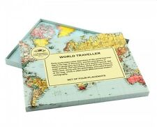 World Traveller Map Placemats Set of 4 - Travel the World whilst eating Dinner