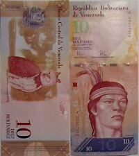 """BILLETE """"  VENEZUELA   """"  10 BOLIVARES    AÑO : 2009   UNC    PLANCHA"""