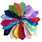 Mens Plain Silk Wedding Scrunch Ruche Cravat Necktie Tie Solid Color Neckwear