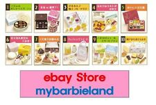 Re-ment Full Set of 10 ELEGANT SWEETS Barbie Size Miniature Food VHTF RARE