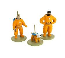 RARE TINTIN SNOWY Milou Destination Moon lot of 3 Lead figs Moulinsart MINT 2015