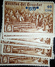 lot of 25 stamps from Ecuador. 1939. rare,used.