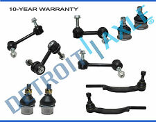 New 10pc Complete Front Rear Suspension Kit for Chevy Trailblazer and GMC Envoy