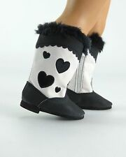 """I Heart Boots"" in Black -  For American Girl (boy) & most 18"" dolls"