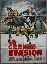 LA GRANDE EVASION The Great Escape Affiche Cinéma / Movie Poster STEVE MCQUEEN