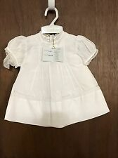 feltman brothers baby girl white dress size 0-3 months