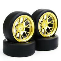 4X Foam Inserts Tires Wheel Rims For 1/10 Scale HPI Drifting RC Car PP0338+DHG