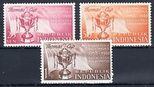 Indonesia - 1958 Thomas Cup / Badminton - Mi. 221-23 MNH