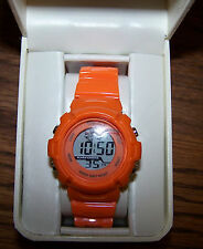 KIM ROGERS Digital Chronograph Watch - Orange Band - NIB!