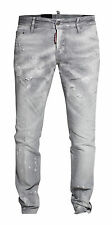 DSQUARED SLIM JEANS GR 46 WASHED DESTROYED DENIM JEANS HELLGRAU S74LA0890