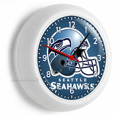SEATTLE SEAHAWKS NFL FOOTBALL TEAM LOGO WALL CLOCK MAN CAVE GARAGE BEDROOM DECOR