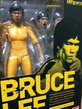 IN STOCK!  NEW BANDAI S.H.Figuarts Bruce Lee (Yellow Track Suit) USA SELLER