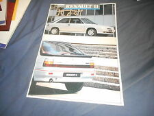 1988 Renault 11 Turbo Color Brochure Catalog Prospekt