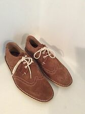 """TED BAKER LONDON """"JAMFRO"""" Men's Nutmeg Tan Suede Brogue Shoes Size US 8"""