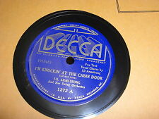 LIL ARMSTRONG DECCA 78 RPM RECORD 1272 KNOCKIN AT THE CABIN DOOR