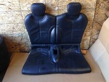 MINI COOPER S SPORT R53 OEM REAR BACK UPPER BOTTOM INTERIOR LEATHER SEAT BLACK
