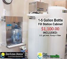 Durastill 42 Gal/day DistillationStation Bottle Filling Cabinet- 1-5 gal Bottles