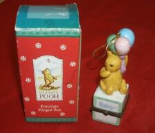 Pooh Baby Block Porcelain Hinged Box Ornament Perjinkities