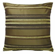 "GREEN & LIME Cushion Covers SET OF 4 Chenille Size 18 x 18"" Throw Deco Decor NEW"