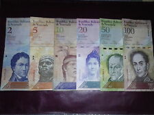 Lot of 6 different notes from Venezuela