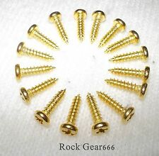 16 MACHINE HEAD SCREWS GOLD