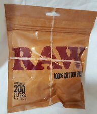 Raw Rolling Roll up 100% Cotton Smoking Filter Tips Sealable Bag