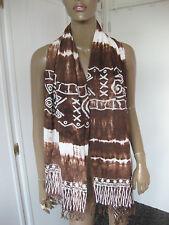 Toller Schal / Tuch von Diva design braun/weiß batik