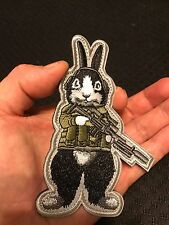 Tactical RABBiT Military ARMY SWAT Police EMBROIDER Morale Hk/Lp PATCH LAPD NYPD