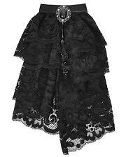 Punk Rave Regency Cravatta jabot Tie PIZZO NERO GOTHIC Vintage Steampunk aristocratico