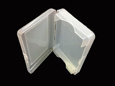 TRANSPARENT PLASTIC 1 DECK HOLDER CASE GREAT GIFT BRIDGE SIZE PLAYING CARDS *